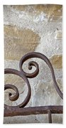 Colonial Wrought Iron Gate Detail Beach Towel