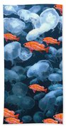 Color And Colorless Fish Beach Towel