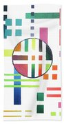 Color And Form Beach Towel