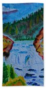 Color At The Firehole Beach Towel