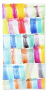 Color Burst 3 Beach Sheet