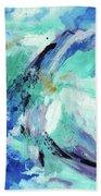Color Chaos Aqua Beach Towel