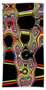 Color Circles Abstract Beach Towel