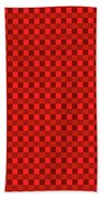 Color Dots On Red Drawing Abstract #7 Beach Towel
