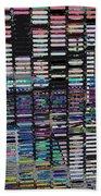 Color Grid - Gold Line Beach Towel