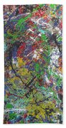 Color Map From The Sky And Ice Figure  Beach Towel