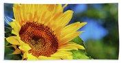 Color Me Happy Sunflower Beach Towel