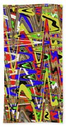 Color Mix Fun Abstract Beach Towel