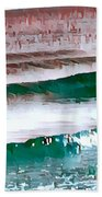 Color Movement-turquoise And Red Beach Towel