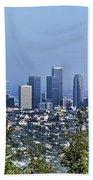 Color Pano Los Angeles California  Beach Towel