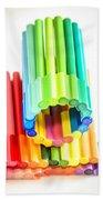 Color Pens 10 Beach Towel