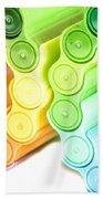 Color Pens 3 Beach Towel
