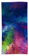 Color Splash Abstract 080210 Beach Towel