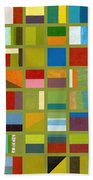 Color Study Collage 64 Beach Towel by Michelle Calkins