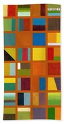 Color Study Collage 66 Beach Towel by Michelle Calkins