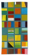 Color Study Collage 67 Beach Towel by Michelle Calkins