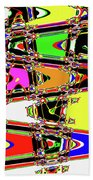 Color Wave Abstract Beach Towel