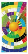 Color Wheel Beach Towel