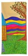 Colorful Fantasy Land Beach Towel