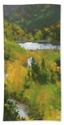 Colorado Lake And Colors Beach Towel