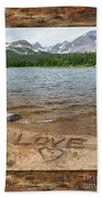 Colorado Love Window  Beach Towel