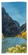 Colorado River And Glenwood Canyon Beach Towel by Jemmy Archer