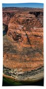Colorado River Circles Horseshoe Bend Page Arizona Usa Beach Towel