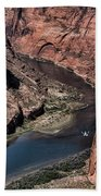 Colorado River Horseshoe Bend Color  Beach Towel