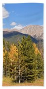 Colorado Rockies National Park Fall Foliage Panorama Beach Towel