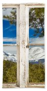 Colorado Rocky Mountain Rustic Window View Beach Towel