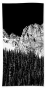 Colorado Rocky Mountains Indian Peaks Fine Art Bw Print Beach Towel