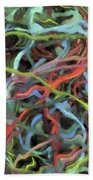 Colored Dream Abstract Beach Towel