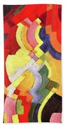 Colored Forms IIi By August Macke Beach Towel