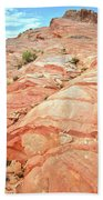 Colored Hill In Valley Of Fire Beach Towel