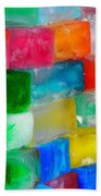 Colored Ice Bricks Beach Towel