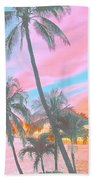 Colored Palms Beach Towel