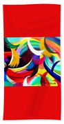 Colorful Abstract Art Beach Towel