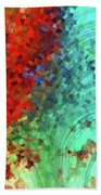 Colorful Abstract Art - Rejoice - Sharon Cummings Beach Sheet