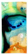Colorful Abstract Art - The Calling - By Sharon Cummings Beach Sheet