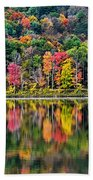 Colorful Autumn Reflections Beach Towel