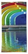 Colorful Bandshell And Swan Beach Towel
