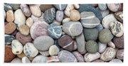 Colorful Beach Pebbles Beach Towel