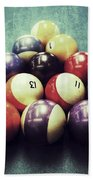 Colorful Billiard Balls Beach Towel