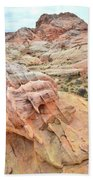 Colorful Boulder Above Wash 3 In Valley Of Fire Beach Towel