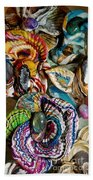 Colorful Bright Corals All In A Row  Beach Towel
