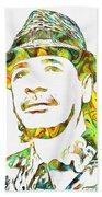 Colorful Carlos Santana Beach Towel
