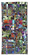 Colorful Chaotic Composite Beach Towel