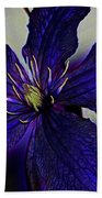Colorful Clematis Beach Towel