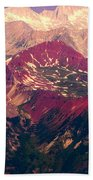 Colorful Colorado Rocky Mountains Beach Towel