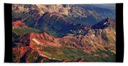 Colorful Colorado Rocky Mountains Planet Art Poster  Beach Towel